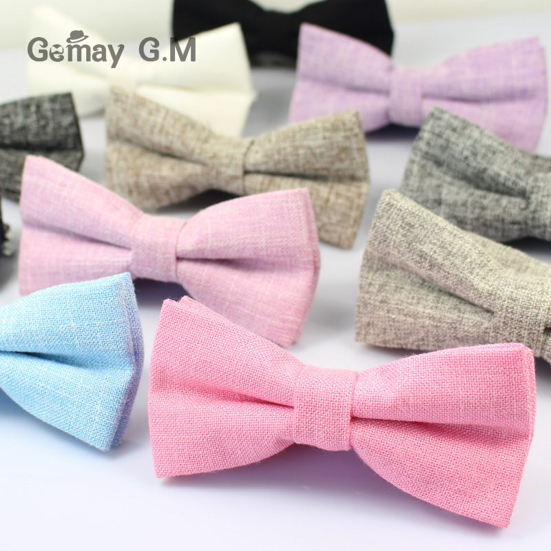Fashion Cotton Bowtie Ties For Men Gravatas Tuxedo Bowties Business Wedding Neck Tie Casual Men Cravat