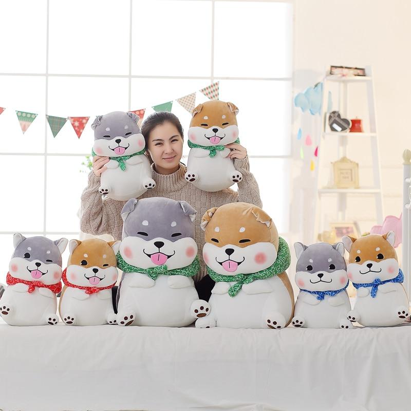 Cute Shiba Inu Plush Toy Super Soft Dog Pillow Doll Children Birthday Gift Home Decor 40/60cm 1pc 25cm wear scarf shiba inu dog japanese doll toy doge dog stuffed soft animal toys plush cute baby children s gift for kids