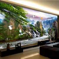 大風景水太陽鳥針仕事、diy dmcクロスステッチ、作るお金流れる風景風景シリーズ、壁ホームdecro
