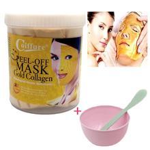 300g 24K Gold Mask Powder Active Gold Crystal Collagen Pearl Powder Facial Masks mascara facial Anti Aging Whitening+mask bowl