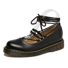 British Style Carved Vintage Oxford Shoes Women Lace-Up Flats Fashion Rubber Soles For Moccasins Women Shoes Casual Women Flats
