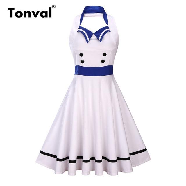 1950s Halter Dress