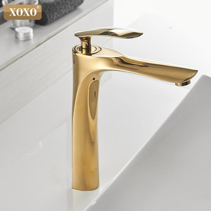 XOXO robinets de bassin froid et chaud mitigeur monotrou noir blanc or mitigeur pour salle de bains robinets évier 20055-1 - 5