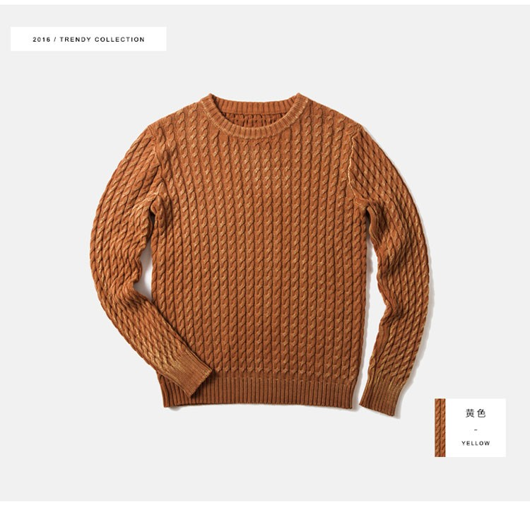 Aolamegs Men Sweater Fashion Casual Solid Color Knitting Pullover 2016 Autumn High Quality Simple Wild O-Neck Knitted Sweaters (2)
