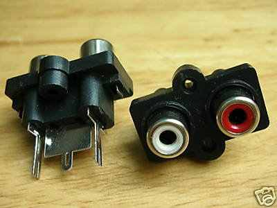 Conector hembra de 12 paneles QUAD RCA chasis QS1