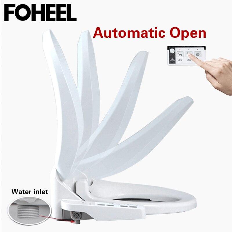 FOHEEL 自動オープンスマート便座カバー電気スマートビデ便座 WC 自動オープン席熱便座カバー  グループ上の 家のリフォーム からの 便座 の中 1