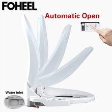 FOHEEL 자동 열기 스마트 변기 커버 전기 스마트 비데 변기 WC 자동 오픈 시트 열 변기 커버