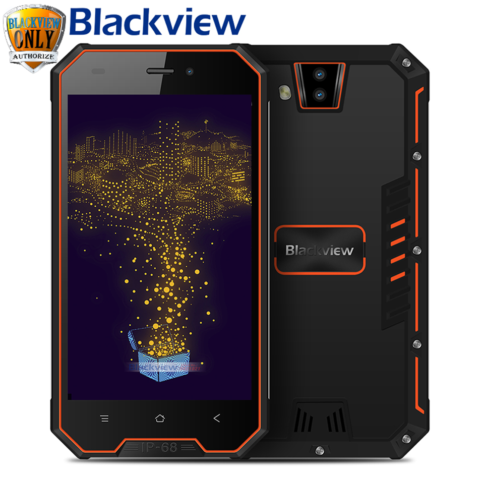 "Blackview BV4000 IP68 Waterproof 3G Smartphone 8MP Dual Rear Cameras Android 7.0 Quad Core 4.7"" HD 1GB RAM 8GB ROM Mobile Phone"