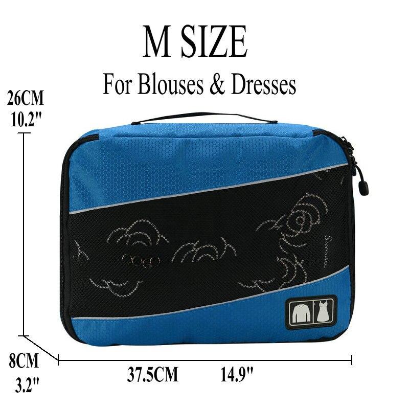 Soperwillton упаковочные кубики, нейлоновая дорожная сумка-Органайзер, Воздухопроницаемая сетчатая дорожная сумка для мужчин и женщин, органайзер для путешествий - Цвет: Blue M