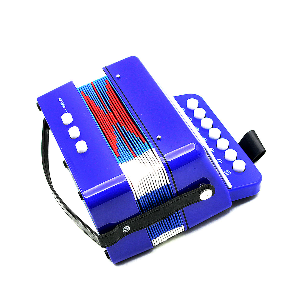 New D Luca Child Button Toy Accordion Blue 7 Keys 3 Buttons Fuse Box Children Kids