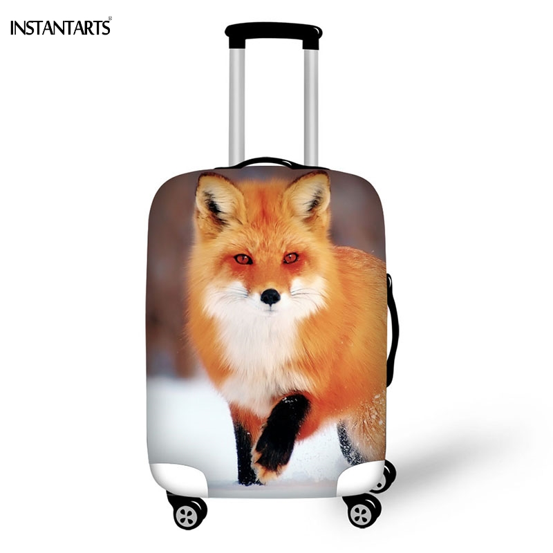 INSTANTARTS 2017 Cute Fox Cover For Suitcase Bags Travel Luggage Accessories For Men's Women Waterproof Protection Suitcase Case