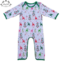 New Newborn Outfit Christmas Baby Pajamas Suit Elk Printed Long Sleeve Baby Boy Newborn Clothes Long
