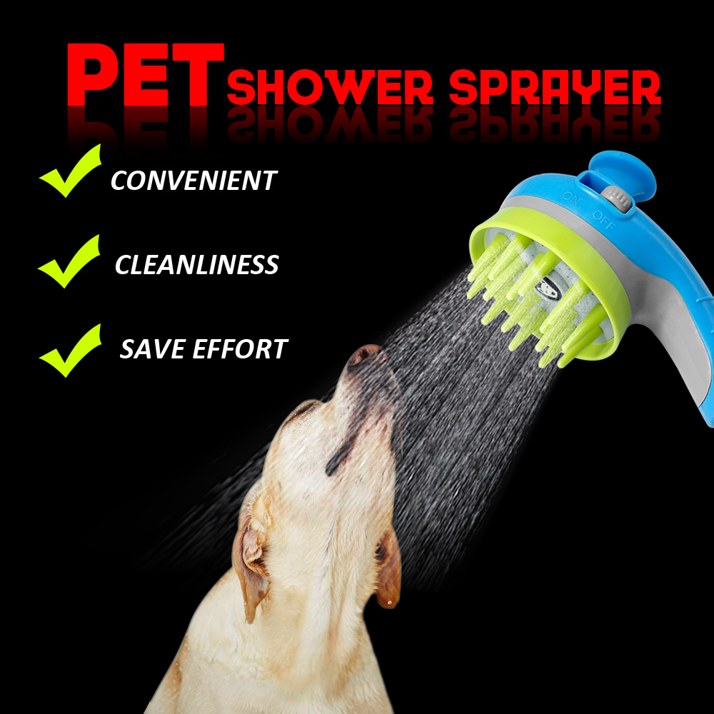 Pet Dog Cat  Shower Sprayers Bathtub Brush Dogs Cats Horse Bathing Comb Massage Grooming Cleaning Tool Hair Washing 1