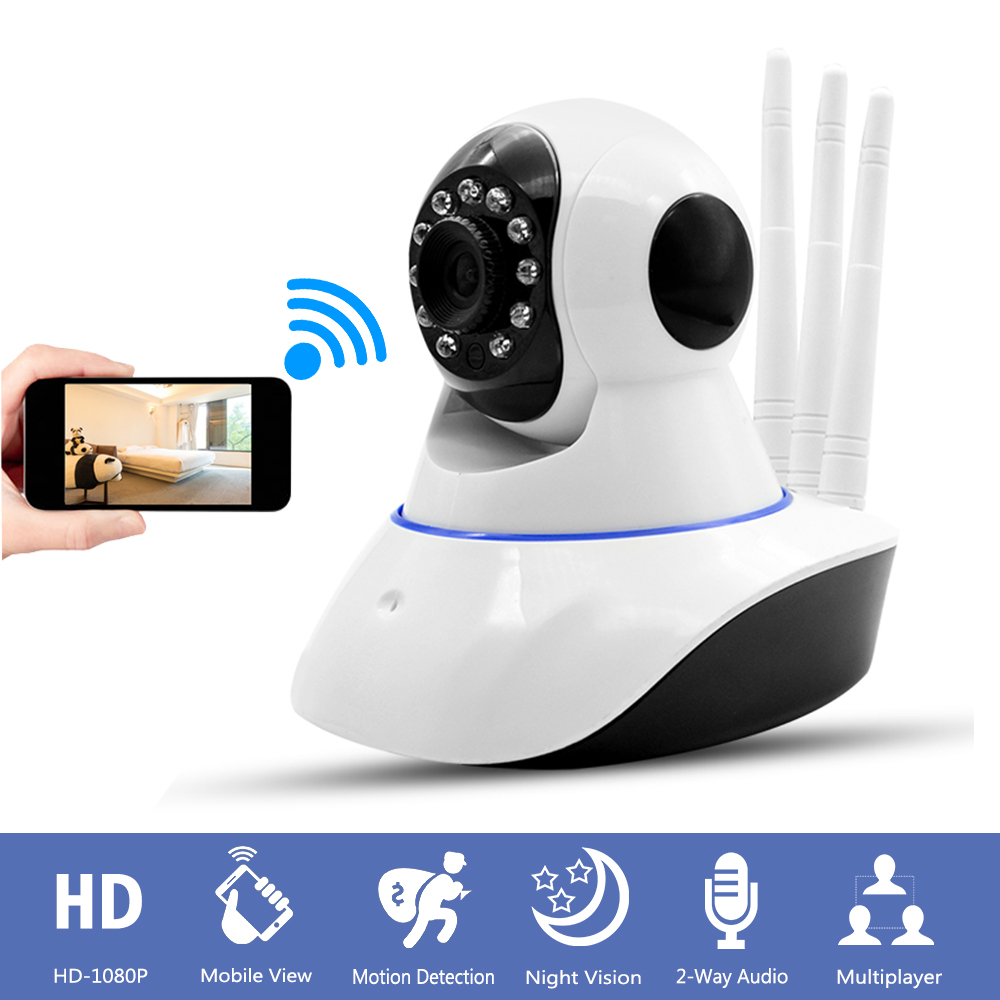 Home CCTV Surveillance Security Wireless Wifi Camera HD 1080P Mini IP Camera Baby Monitor Pan Tilt Night Vision Motion Detection new surveillance ip camera pan tilt p2p ir night vision motion detection wireless wifi indoor home security support 64g tf card