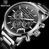 Montre homme 2018 BENYAR для мужчин s часы лучший бренд класса люкс мужские часы водостойкие кварцевые наручные часы xfcs поддержка дропшиппинг