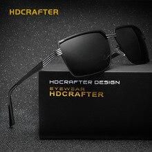 HDCRAFTER Brand Designer Titanium Alloy Frame Men Sunglasses Polarized Women Eyewear Driving Oculos unisex Glasses With Case