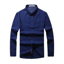 8XL 6XL 5XL Brand New Men Shirt Male Dress Shirts Men's Fashion Casual Long Sleeve Business Formal Shirt camisa social masculina