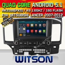 WITSON Android 5.1 CAR DVD GPS for MISUBISHI LANCER Capacitive touch screen car audio car dvd player car radio mirror link