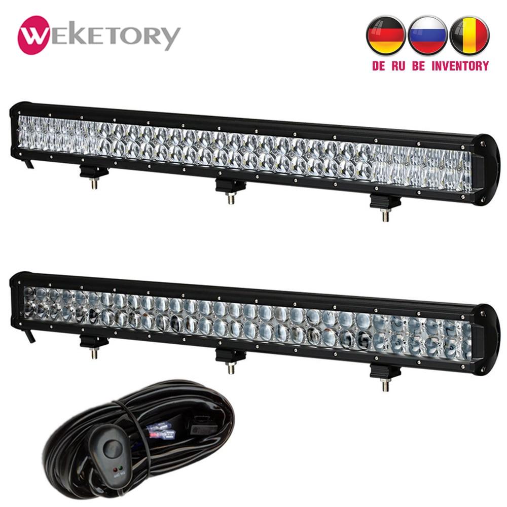 Weketory 28 pouces 300 W 4D 5D LED Travail Light Bar pour Tracteur Bateau OffRoad 4WD 4x4 Camion SUV ATV Combo Faisceau avec Câblage de L'interrupteur