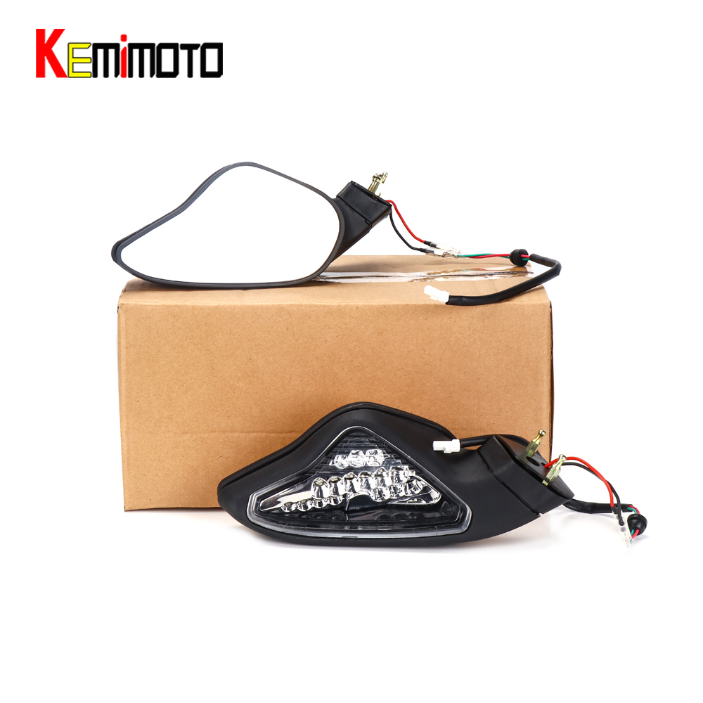 Kemimoto For Ducati 1098R 1198\S 1198R Motorcycle Turn Signal Lights Rearview Mirrors for DUCATI 848 1098 1098S after market