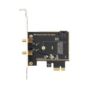 Image 4 - Dual band Desktop Wireless Intel 9260AC 9260NGW MU MIMO 802.11ac 1730 Mbps Wifi Bluetooth 5,0 PCI E PCIe X1 Wlan Karte + antennen