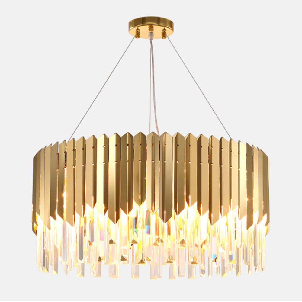 luxury design crystal chandelier modern living room lights AC110V 240V lustre LED dinning room lamp led crystal chandeliers lamp round ring hanging lights modern led crystal chandelier fixture for living room lobby ac110v 240v