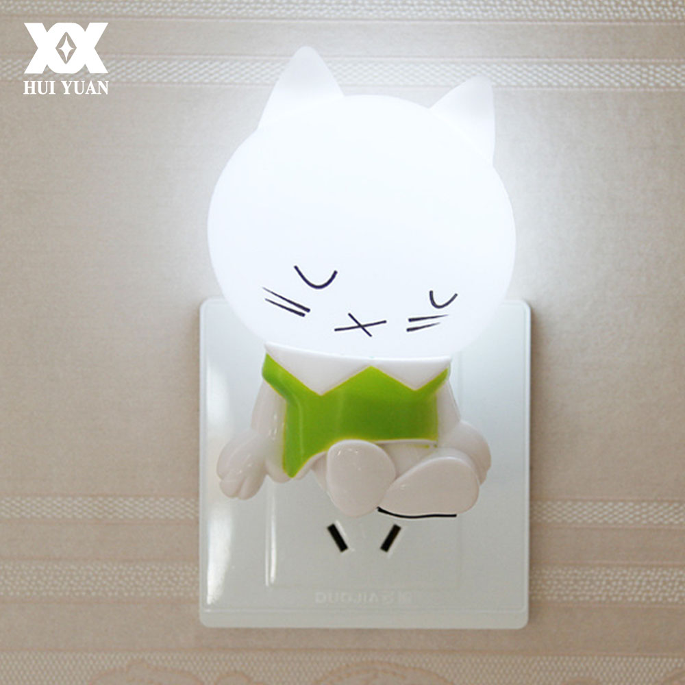 Lovely Cartoon Sleepy Cat LED Night Light Intelligent Human Induction Lamp Children Bedroom/Corridor Automatic Emergency Lights