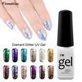 Verntion 2017 Hot Sale Color Gel Nail Polish UV Led Gel Varnish gold Color Gel Lacquer 3D Diamond Glitter Nail Gel Polish