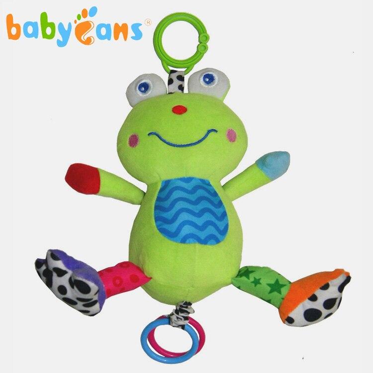 Bebé sonajeros mobiles mamas papas cochecito de bebé de la música de la rana de