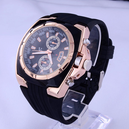 все цены на V6 Mens Watches Top Brand Luxury Sport Watch Men Watch Fashion Men's Watch Silicone Band Clock relogio masculino erkek kol saati онлайн