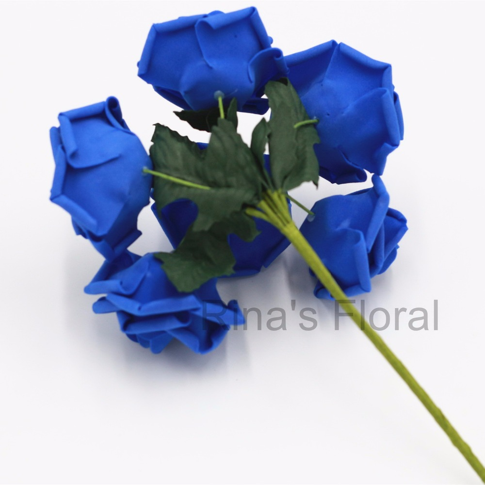 72 royal blue flowers fake roses bulk flowers for wedding decoration 72 royal blue flowers fake roses bulk flowers for wedding decoration bridal bouquet wedding centerpieces wholesale flowers in artificial dried flowers izmirmasajfo