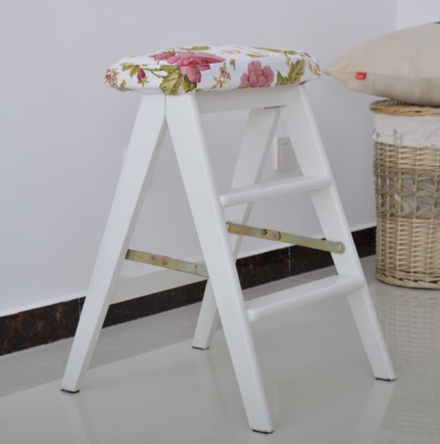 Dining Room Garden Stool White Color Free Shipping Folding Stool Furniture  Retail Wholesale Household Bench
