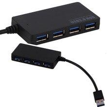 Питание USB 3.0 HUB 4 Порты и разъёмы SuperSpeed компактный концентратор адаптер USB вцв для портативных ПК для ноутбук Mac Desktop оптовая продажа Прямая доставка
