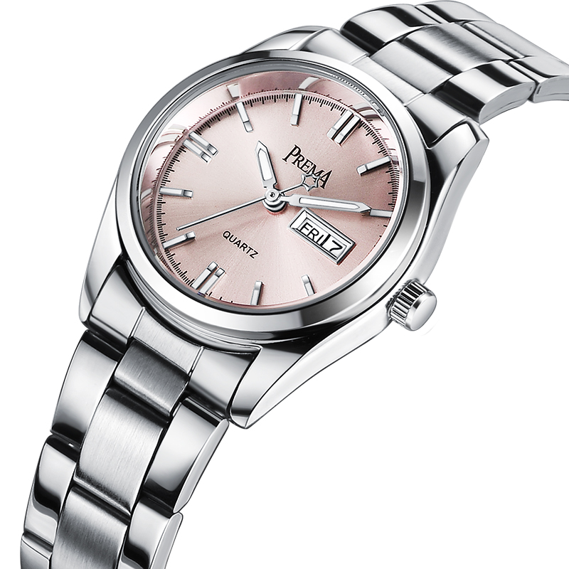 PREMA Women Watches 2020 Brand Fashion Female Clock Wrist Watch Stainless Steel Waterproof Ladies Quartz Dress Wristwatches Pink