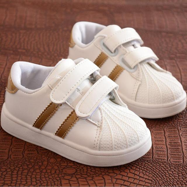 Children Shoes Girls Boys Sport Shoes Antislip Soft Bottom Kids Baby Sneaker Casual Flat Sneakers white Shoes size 21-30