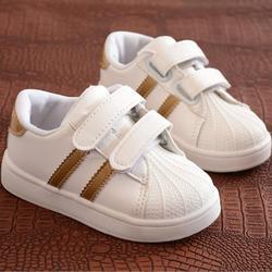 Kinder Schuhe Mädchen Jungen Sport Schuhe Antislip Weichen Boden Kinder Baby Sneaker Casual Flache Turnschuhe weiß Schuhe größe 21- 30