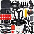 Sck02 deporte accesorios de la cámara del kit para soocoo hero 4 5 sjcam sj6 sj5000x xiaomi yi eken h8 h9 4 k wifi cámara de acción a prueba de agua