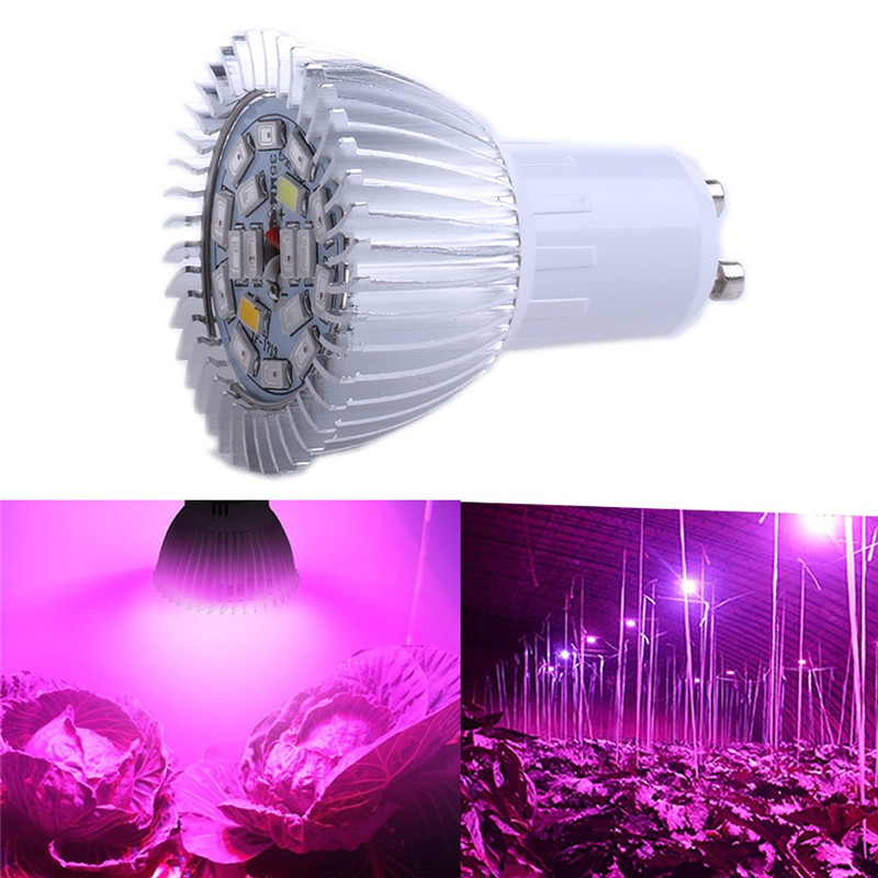 18LED GU10 Grow Light Lamp Veg Indoor Hydroponic Plant Full Spectrum 18W