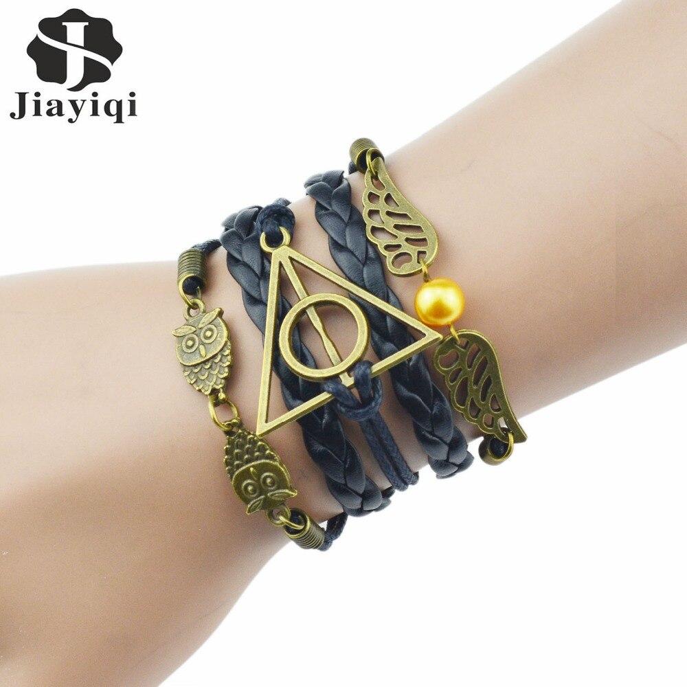 New Fashion Vintage Hitam Coklat Warna Kulit Buatan Gelang   Gelang Emas  dan Perak Gelang untuk Wanita Perhiasan fcf6f060b2