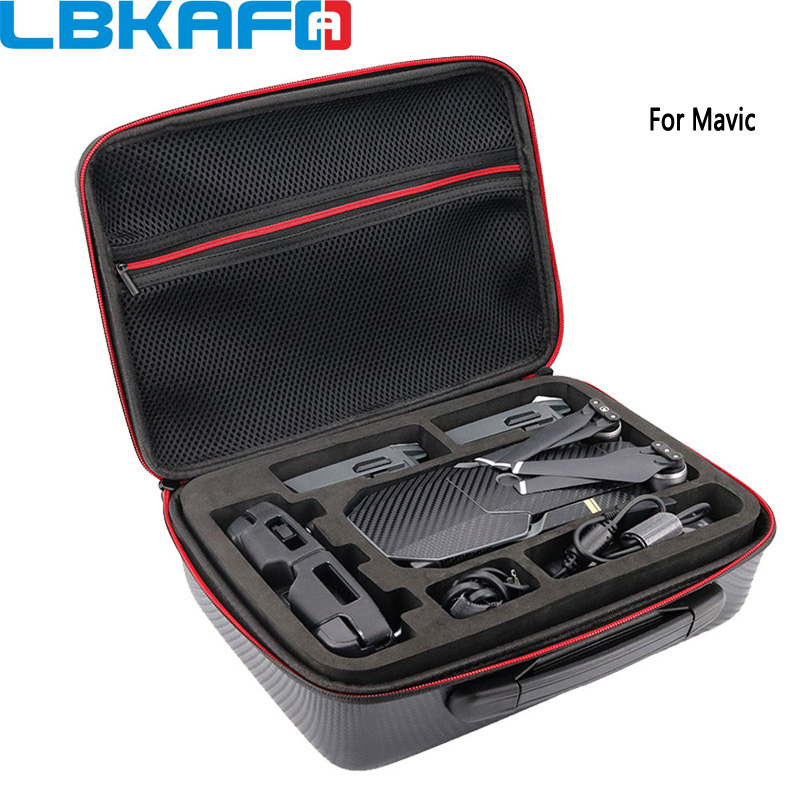 LBKAFA Drone Bag For DJI MAVIC Pro Shoulder Bag Case Protector EVA Waterproof Portable Storage Box Shell Handbag For Mavic 1pc drone spare parts portable handbag hard case carrying storage bag protector eva for gopro karma g6 gimbal stabilitzer