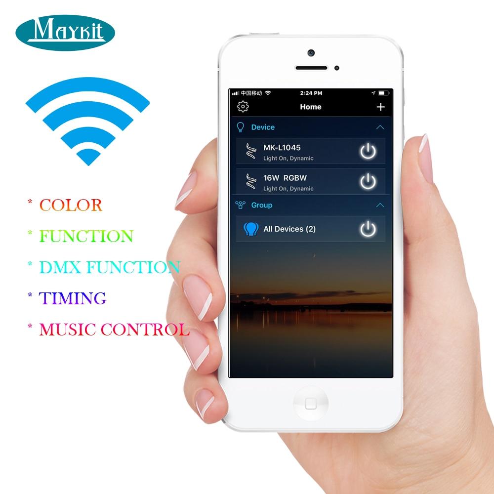 Maykit WIFI smart phone control lichtwellen sterne decke licht kit mit 75W RGB LED licht quelle 835 fiberglas licht strans optische faser tails - 2