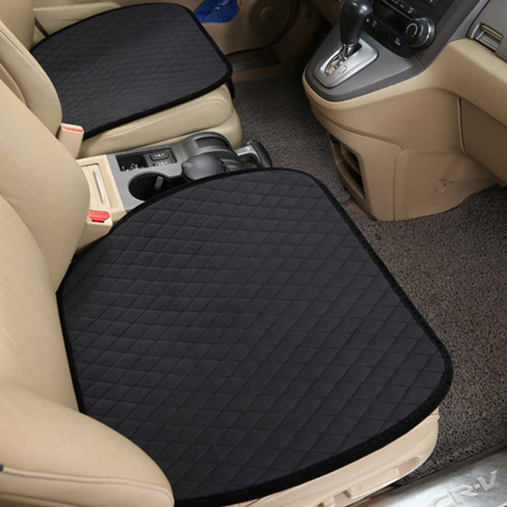 Office Chair Carpet Protector Universal Velvet Non Slip Car Seat Cover Cushion Pad Mat Home Office Chair Covers Warm Sponge Auto Seat Protector Accessories