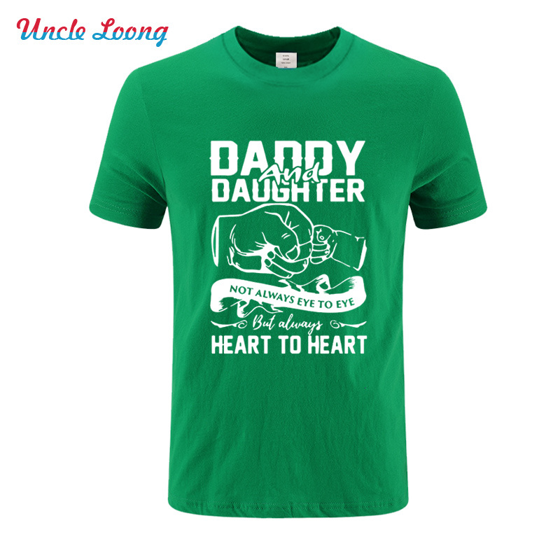 Daddy amp Daughter Not Always Eye To Heart Funny Summer Fashion T Shirt High quality men 39 s wear Short sleeve Cotton SIZE XS 4XL in T Shirts from Men 39 s Clothing