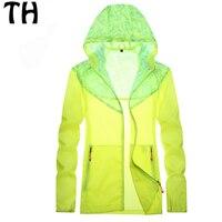 2016 Summer Style Thin Windbreaker Jacket Women Men Sunscreen Waterproof Breathable Outdoor Sport Jackets Hooded Coats