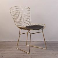 Free shipping U BEST Mid Century Modern Reproduction Bikini Wire Chair,Modern Collection gold Wire Dining Chair side chair