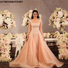 DYYMYH&MJPGHBT Long Sleeve Prom Dresses with Train