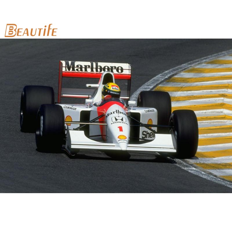 Ayrton Senna Poster Cloth Silk Poster Home Decoration Wall Art Fabric Poster Print 30X45cm,40X60cm.50X75cm,60X90cm