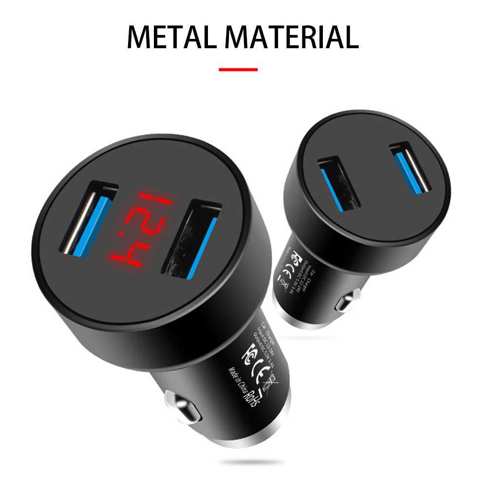 Новейшее 3.4A мини двойной зарядное устройство USB прикуриватель розетка 2 порта USB Универсальное быстрое автомобильное зарядное устройство адаптер питания