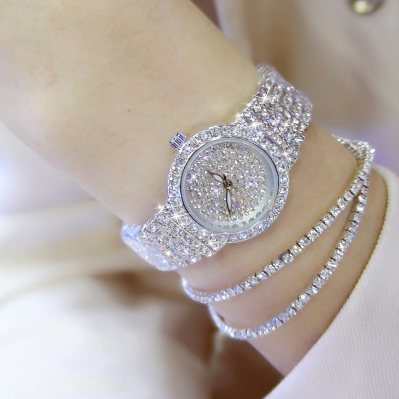 2019 New Luxury Women Watches Diamond Famous Brand Elegant Dress Quartz Watches Ladies Rhinestone Wristwatch Relogios Femininos