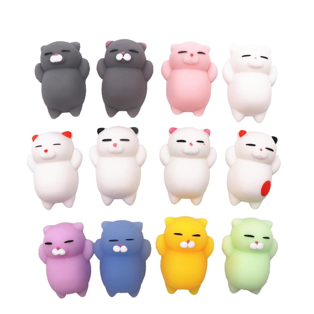 2019 New Fashion Cartoon Cute Animal Squishies PU Squishy Anti-stress Slow Mochi Rising Original Package Kids Toy Xmas Gift